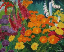 Flower garden (marigolds)
