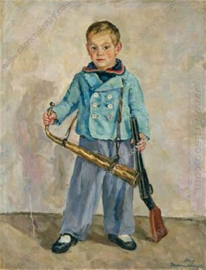 Boy With A Pipe Andron Mikhalkov 1940