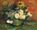 Still Life With Roses And Sunflowers 1886