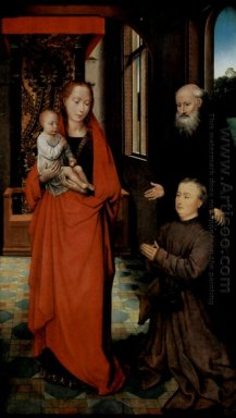 Virgin And Child With St Anthony The Abbot And A Donor 1472