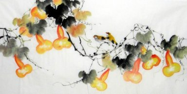 Gourd-Birds - Chinese Painting