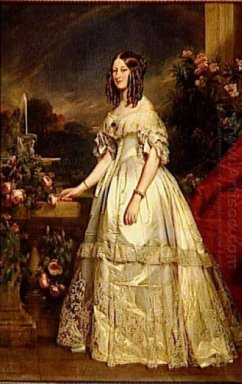 Portrait Of Princess Victoria Of Saxe Coburg And Gotha