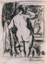 The Model Behind His Back Drawing For The Painting Woman With A