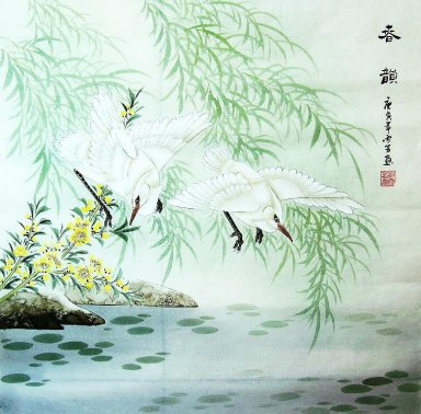 Birds&Willow - Chinese Painting