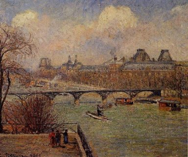 view of the seine from the raised terrace of the pont neuf 1901