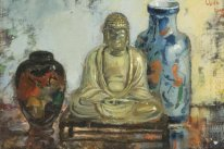 Buddha with two vases