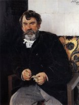 A Portrait Of E S Sorokin 1891