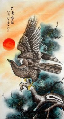 Eagle-Semi-manual- - Chinese Painting