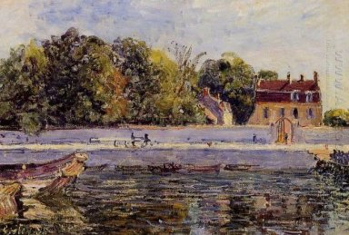 saint mammes house on the canal du loing 1885