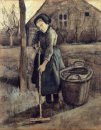 A Girl Raking 1881