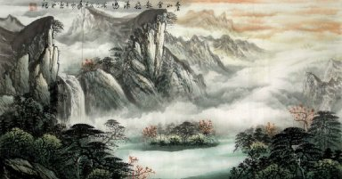 Moutains and Water - Chinese Painting