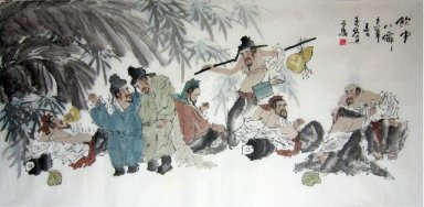 The Eight Immortals-Chinese Painting
