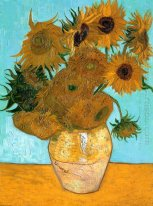 Still Life Vas Dengan Twelve Sunflowers