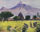 Ararat And Saint Hripsime Church 1945