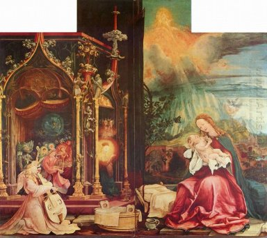 Nativity And Concert Of Angels From The Isenheim Altarpiece Cent