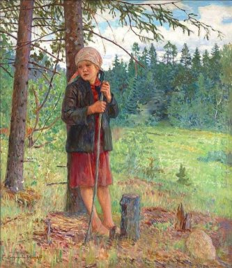 Girl In A Wood