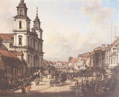 View Of Cracow Suburb From Nowy ?9Bwiat Street 1778