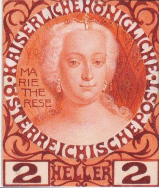 Design For The Anniversary Stamp Austrian With Empress Maria The