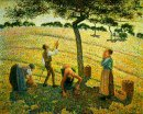 apple picking at eragny sur epte 1888