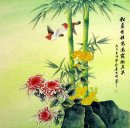 Chrysanthemum&Bamboo&Birds - Chinese Painting