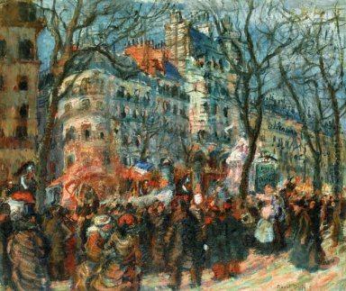 Carnival On The Grands Boulevards 1903
