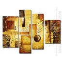 Hand-painted Landscapes Oil Painting - Set of 4