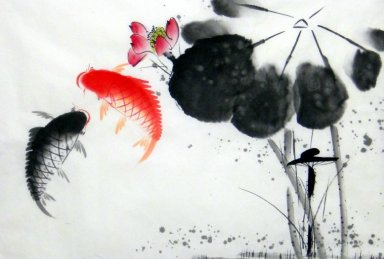 Fish-Lotus - Chinese Painting