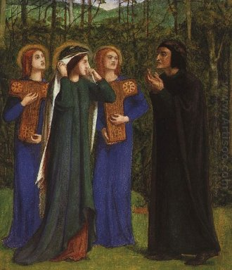 The Meeting Of Dante And Beatrice In Paradise 1854