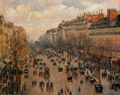 boulevard montmartre afternoon sunlight 1897
