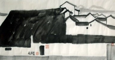 A village - Chinese Painting