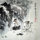 Old man, tea-Chinese Painting