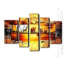 Hand Painted Oil Painting Landscape - Set of 5 1211-LS0229