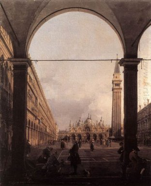 piazza san marco looking east from the north west corner