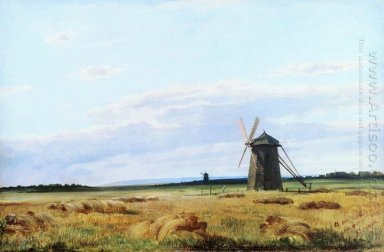 Windmill In The Field 1861