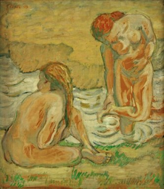 Two Bathing Girls 1909