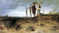 Cursed field. The place of execution in ancient Rome. Crucified