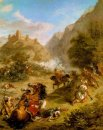Arabieren Skirmishing In De Bergen 1863