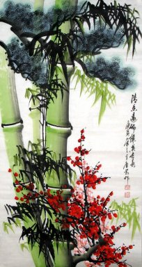 Bamboo-Three Friends:Bamboo Plum Pine - Chinese Painting