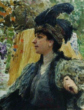 Portrait Of V V Verevkina 1916