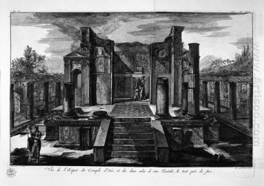 The Temple Of Isis De Face With The Two Wings Of His Peristillo
