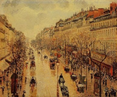 boulevard montmartre afternoon in the rain 1897
