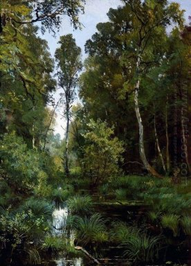 Overgrown Pond At The Edge Of The Forest Siverskaya 1883