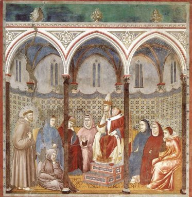St Francis Preaching A Sermon To Pope Honorius Iii 1299