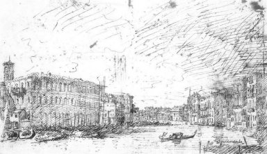 the grand canal seen from rialto toward the north 1725