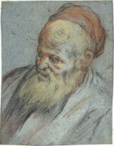 Bust-Length Study of a Bearded Man with Cap in Three-Quarter Vie