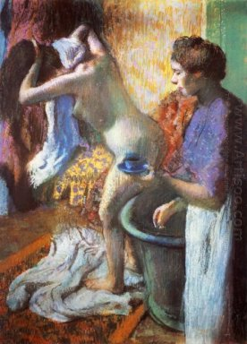 the cup of tea breakfast after bathing 1883