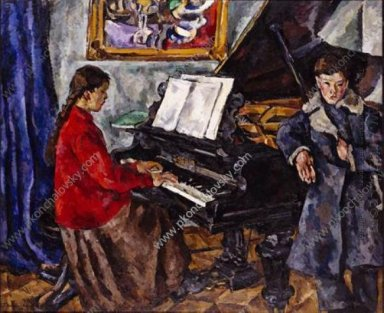 Children At The Piano 1919