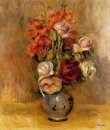 Vase Of Gladiolas And Roses 1909