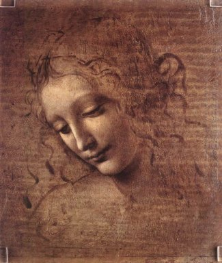 Head Of A Young Woman With Tousled Hair Leda