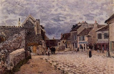 village street grey weather 1874